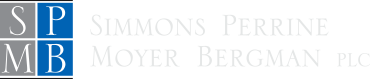 Simmons Perrine Moyer Begman Logo Inversed